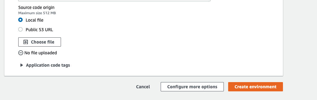 uploading your code to AWS Beanstalk